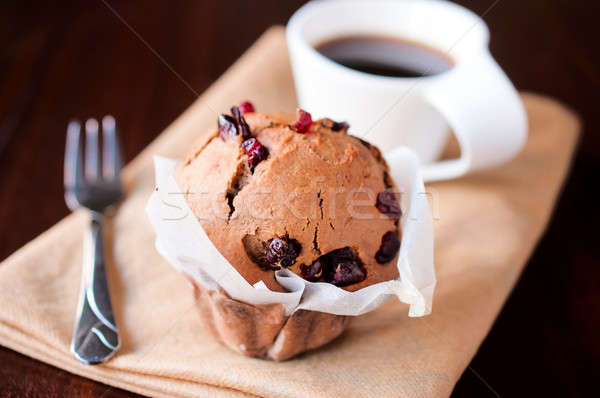 Sponge cake and coffee Stock photo © badmanproduction