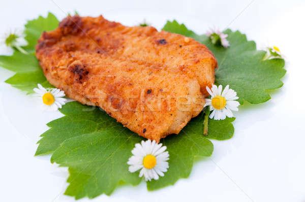 Fried catfish Stock photo © badmanproduction