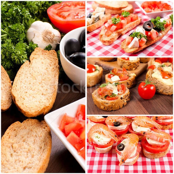 Stock photo: Mini sandwiches