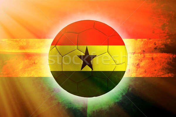 Ghana ball Stock photo © badmanproduction