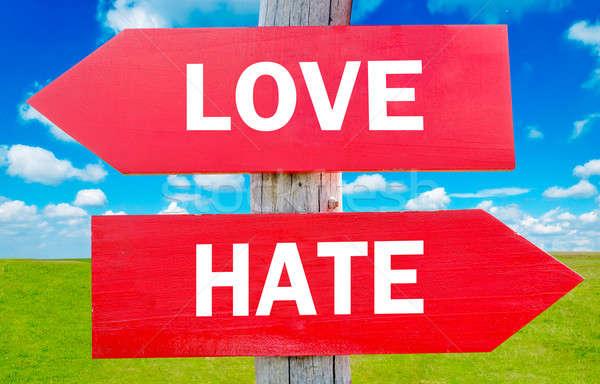 Liefde haat keuze tonen strategie verandering Stockfoto © badmanproduction