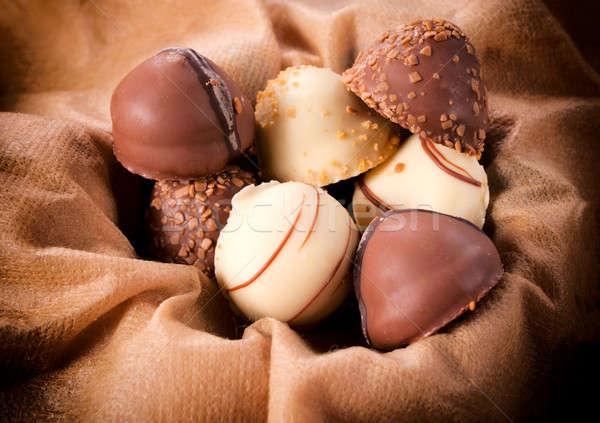 Sweet pralines Stock photo © badmanproduction