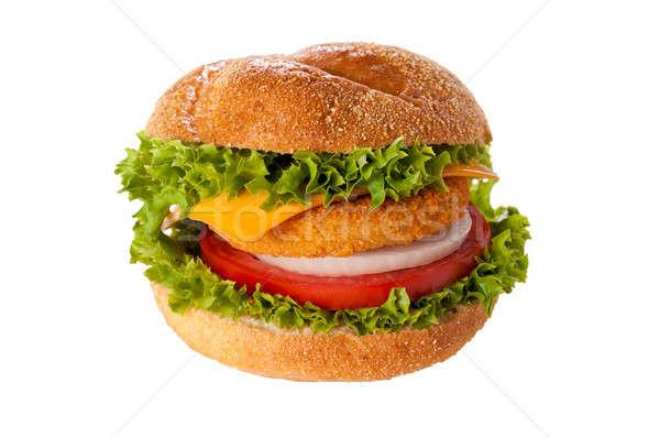 Fishburger isolated  Stock photo © badmanproduction