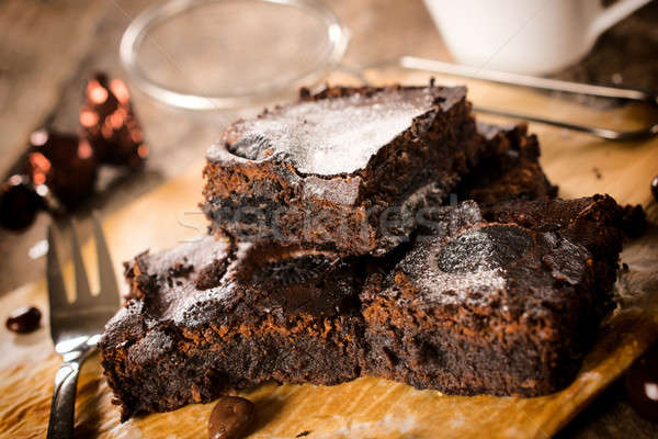 Yummy brownies Stock photo © badmanproduction
