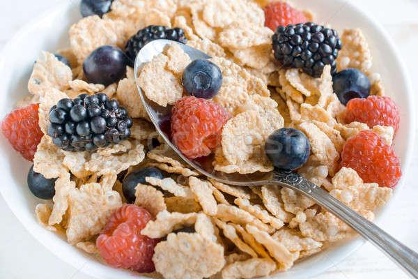 ягодные плодов фрукты завтрак Сток-фото © badmanproduction