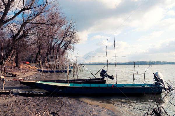 Fisherman boats Stock photo © badmanproduction