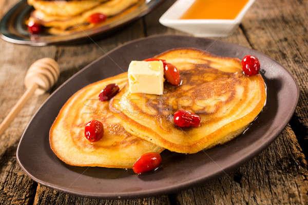 Pancakes time Stock photo © badmanproduction