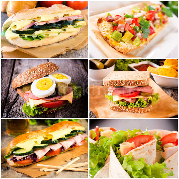 Sandwich time Stock photo © badmanproduction