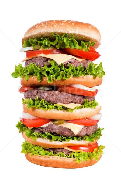 Big cheeseburger Stock photo © badmanproduction