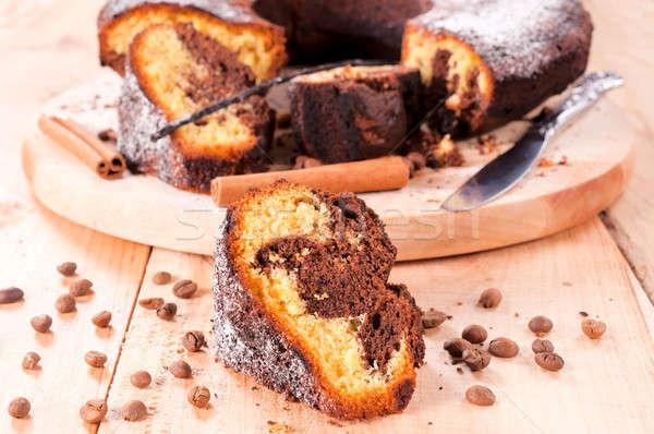 Coffee cake Stock photo © badmanproduction