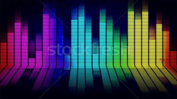 Musica equalizzatore grafica nero luce design Foto d'archivio © badmanproduction