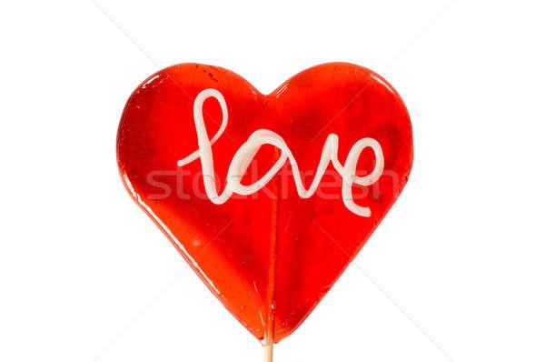 キャンディー 開く 心臓の形態 ライブ にログイン 孤立した ストックフォト © badmanproduction