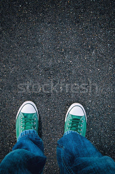 Brand new shoes Stock photo © badmanproduction