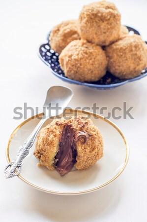 Recheado caseiro doce chocolate sobremesa Foto stock © badmanproduction