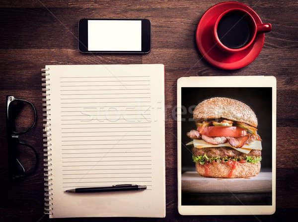 Ofis blog sevmek fotoğrafları tatlı çikolata Stok fotoğraf © badmanproduction