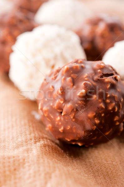 Hazelnut praline Stock photo © badmanproduction
