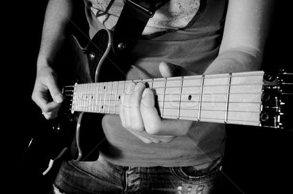 Guitar player Stock photo © badmanproduction