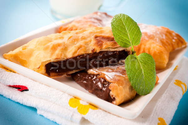 Nuts cream in pastry Stock photo © badmanproduction