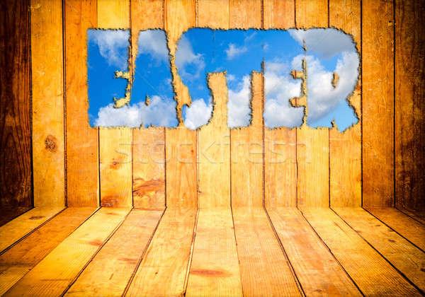 Easter background Stock photo © badmanproduction
