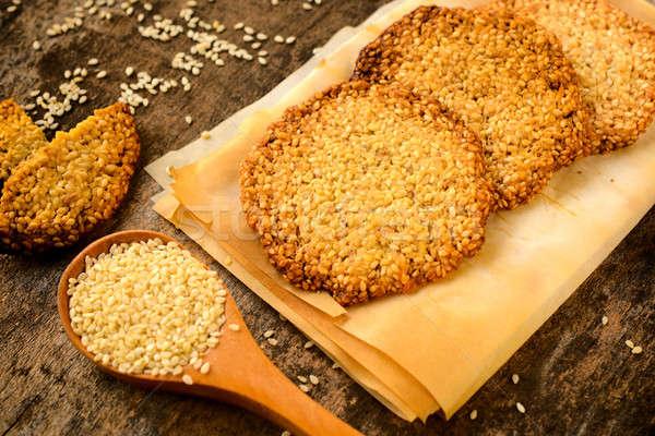 Sesame cookies Stock photo © badmanproduction