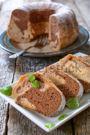 Marble cake Stock photo © badmanproduction