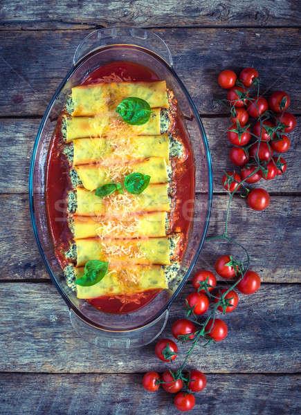 Vegetarian cannoli Stock photo © badmanproduction