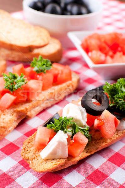 Olasz étel szelektív fókusz elöl paradicsom ital sajt Stock fotó © badmanproduction