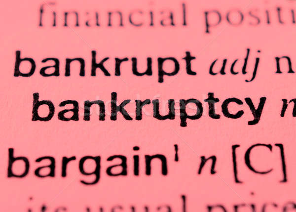 Bankruptcy Stock photo © badmanproduction