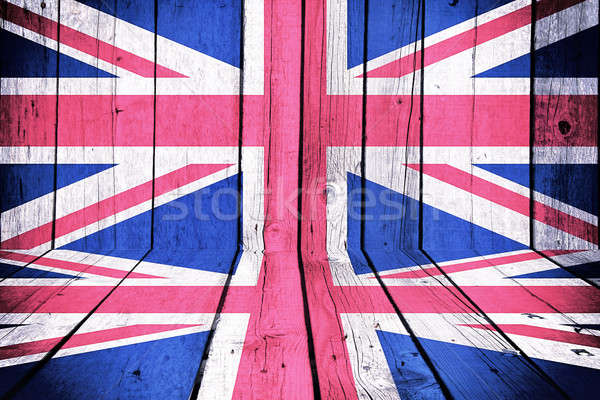 Great Britain flag Stock photo © badmanproduction