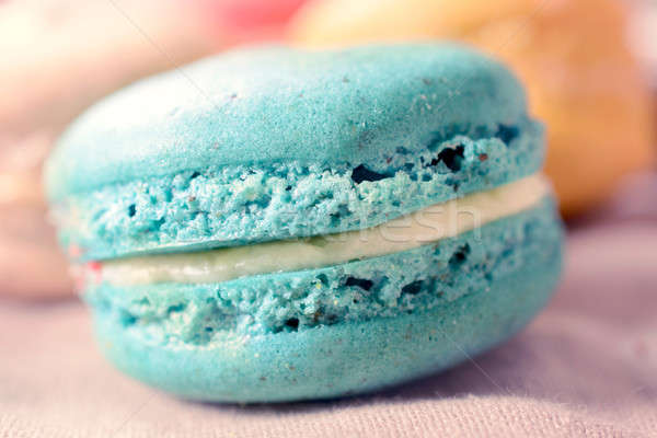 Macro shoot of macaroon cookie Stock photo © badmanproduction