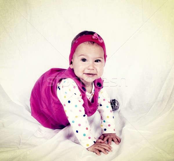 Happy baby Stock photo © badmanproduction