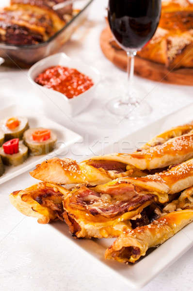 Pastry with bacon Stock photo © badmanproduction