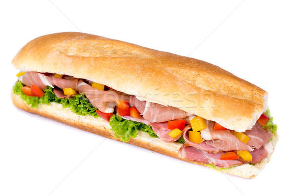 Stock photo: Sandwich isolated