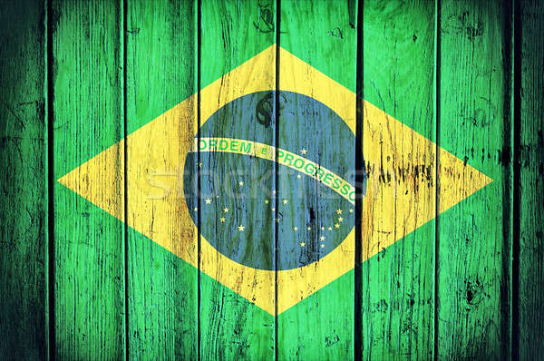 Brasil flag Stock photo © badmanproduction