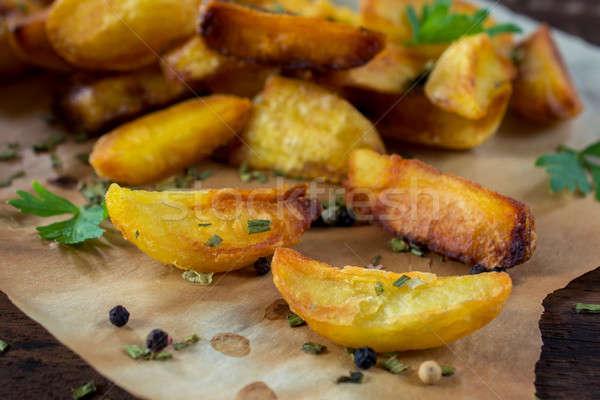 Potatoes time Stock photo © badmanproduction