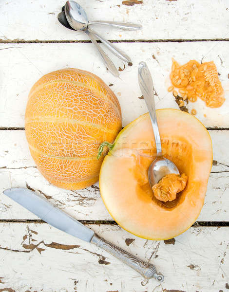 Melon temps sweet organique eau alimentaire Photo stock © badmanproduction