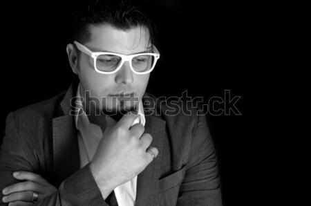 Male thinking Stock photo © badmanproduction