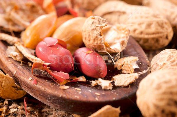 Peanuts and shell Stock photo © badmanproduction