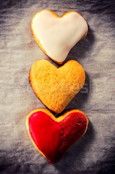 Sweet heart cookies Stock photo © badmanproduction