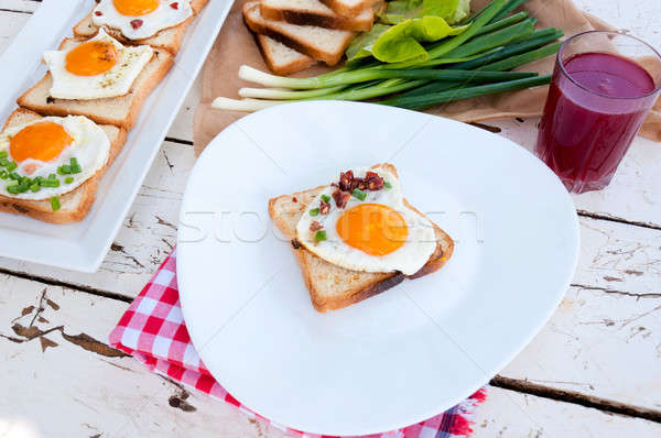 Serbian breakfast Stock photo © badmanproduction