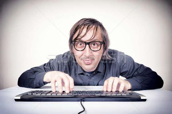 Movking hacker Stock photo © badmanproduction
