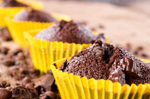 Sağlıksız gıda seçici odak üst fincan kek Stok fotoğraf © badmanproduction
