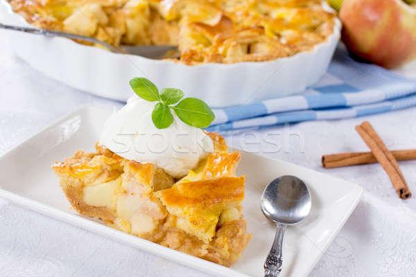Homemade apple pie Stock photo © badmanproduction