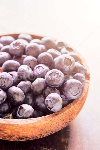 Freshly picked blueberries Stock photo © badmanproduction