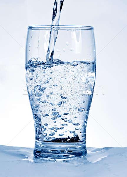Cam su arka plan içmek beyaz Stok fotoğraf © badmanproduction