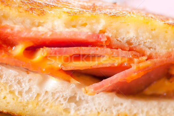 Photo stock: Fromages · fondu · jambon · sandwich · mise · au · point · sélective · milieu