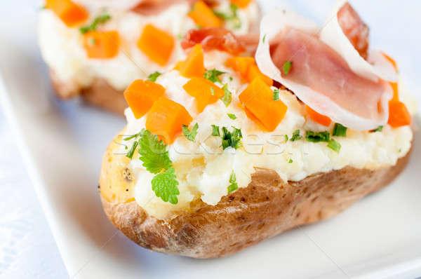 Cheese cream in potatoe Stock photo © badmanproduction
