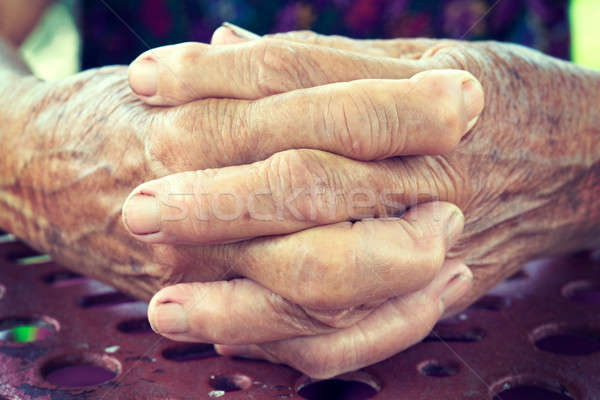 Old hands Stock photo © badmanproduction