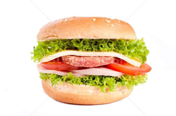 Bun sandwich Stock photo © badmanproduction