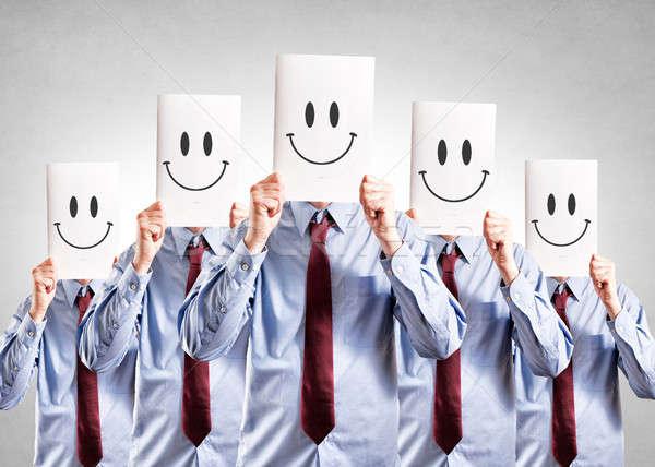 Happy face Stock photo © badmanproduction